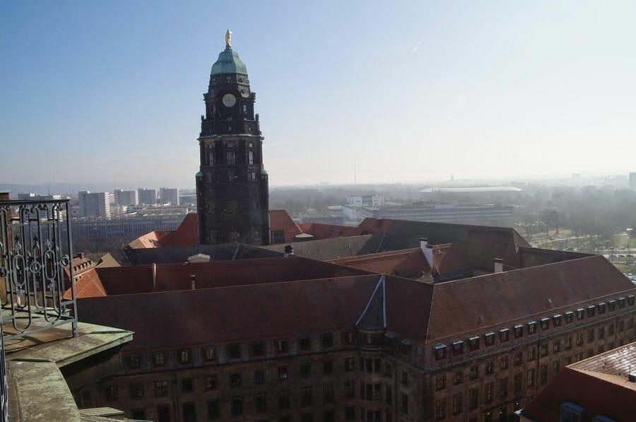 vistas cúpula Kreuzkichner de Dresden