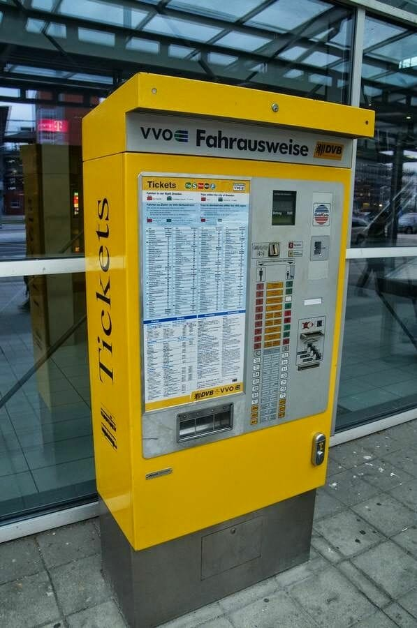 maquinas billetes transporte dresde