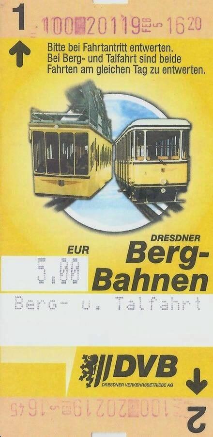 Schwebebahn de Dresde ticket