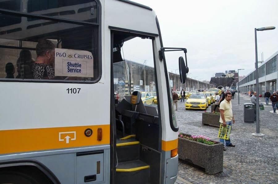 bus cruceros del puerto a Funchal