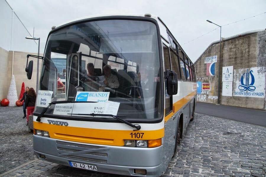 bus del puerto a Funchal