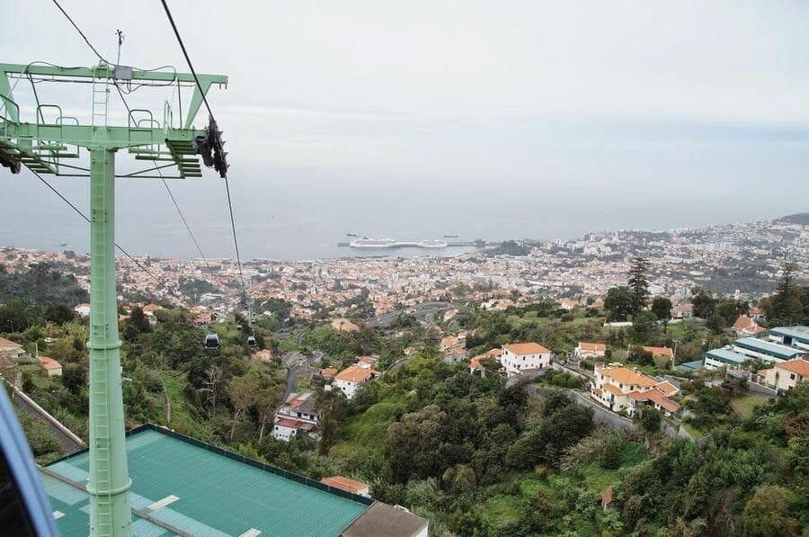 Teleférico Funchal vistas