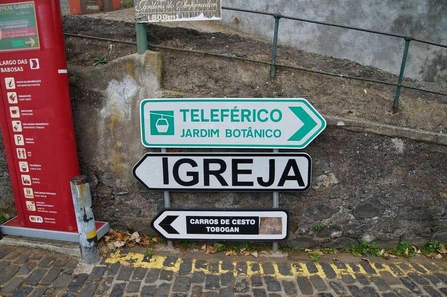 cartel Teleférico Funchal