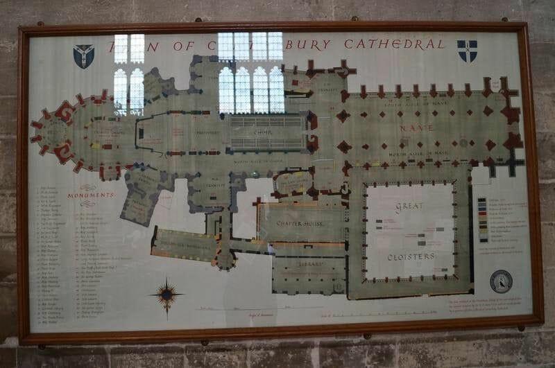 planta catedral canterbury