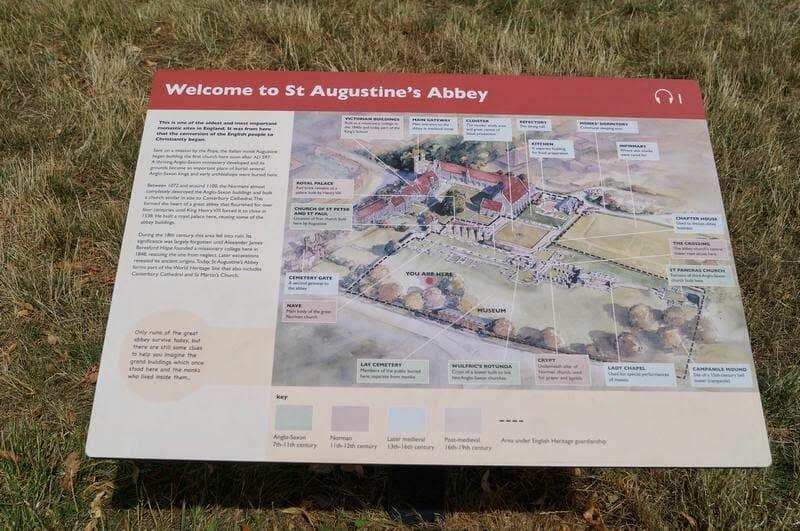 plano la abadía de San Agustín