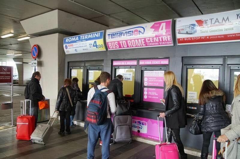 Comprar billete Terravision en el aeropuerto de Roma