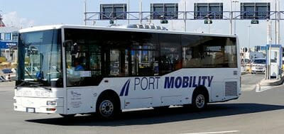 autobus puerto civitavecchia roma
