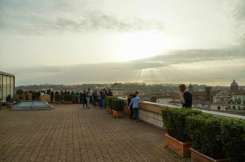 vistas de roma desde los museos Capitolinos