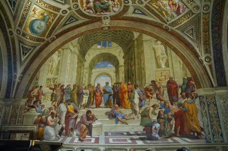 Escuela de Atenas museos vaticanos