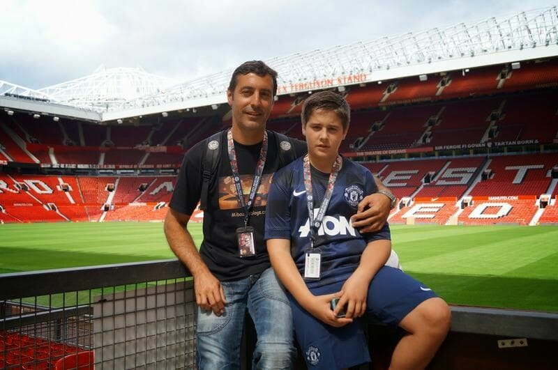 Mi baúl de blogs en el estadio Manchester United.