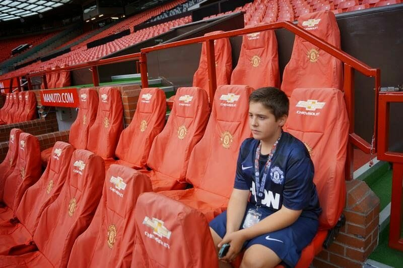 sillas vip estadio Manchester United