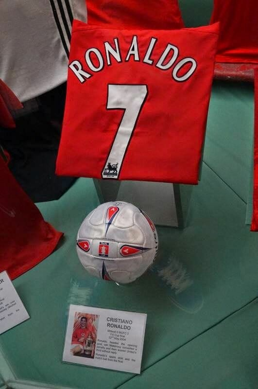 camiseta cristiano ronaldo museo Manchester United