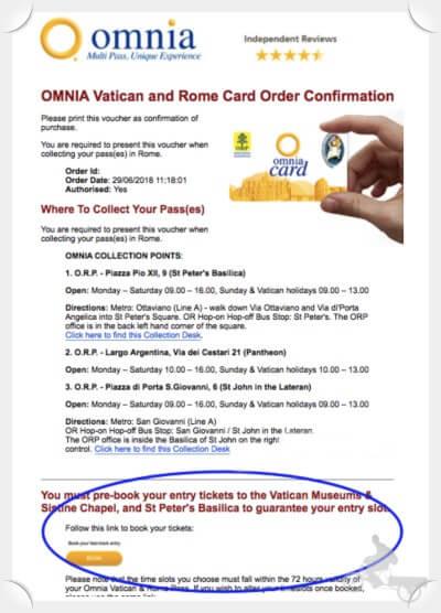 reservar museos vaticanos con omnia card