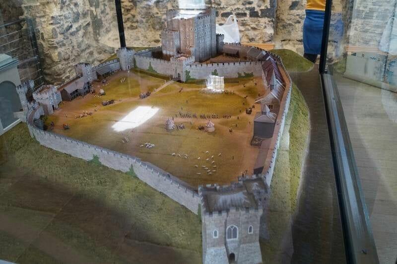 maqueta castillo de rochester
