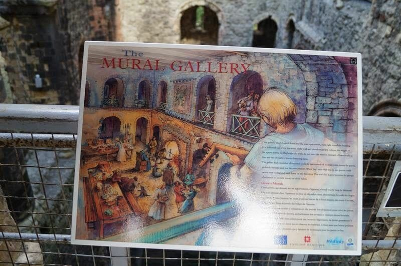 mural gallery rochester castle