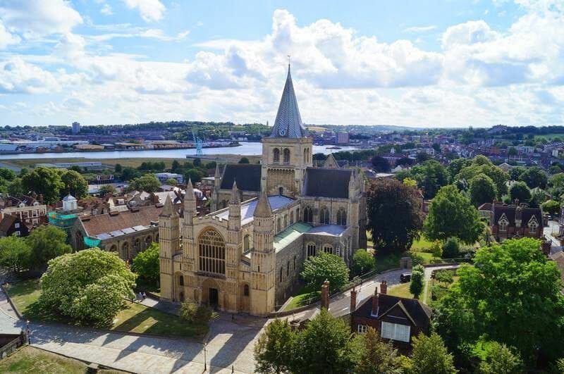catedral de Rochester desde la torre de rochester