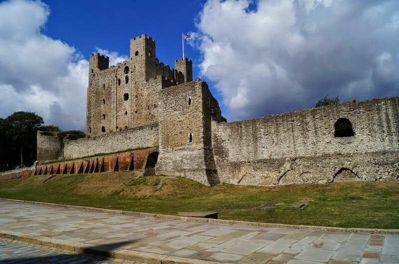 muralla del castillo de Rochester