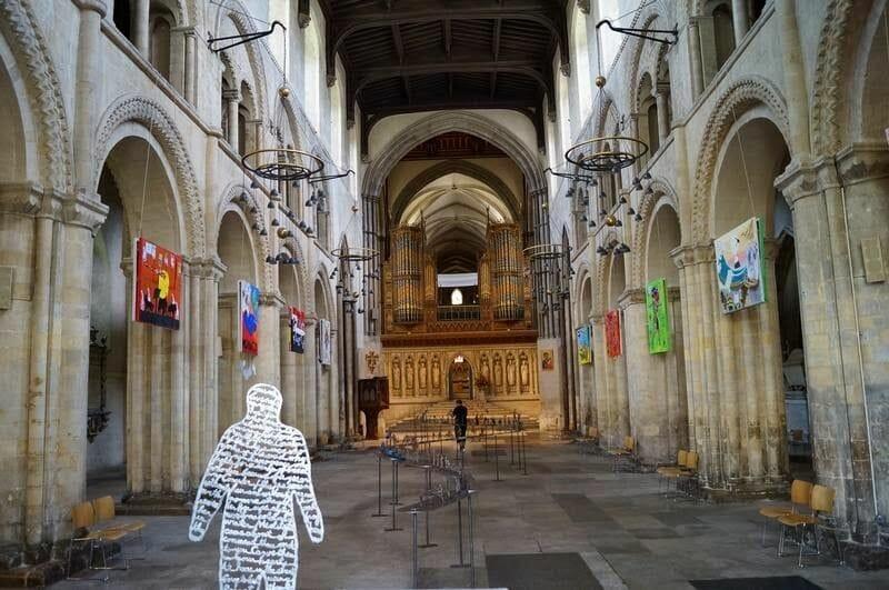 nave central catedral de Rochester