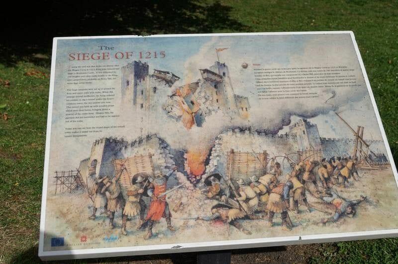 asedio de 1215 torre de rochester castillo
