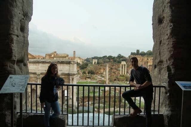 vistas del foro romano desde los museos Capitolinos
