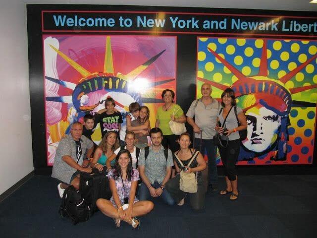 pasajeros aeropuerto Newark