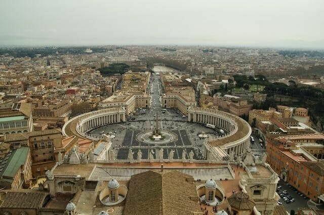 vistas desde Cúpula de la Basílica de San Pedro