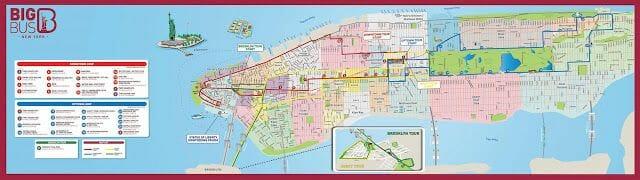 mapa Big Bus