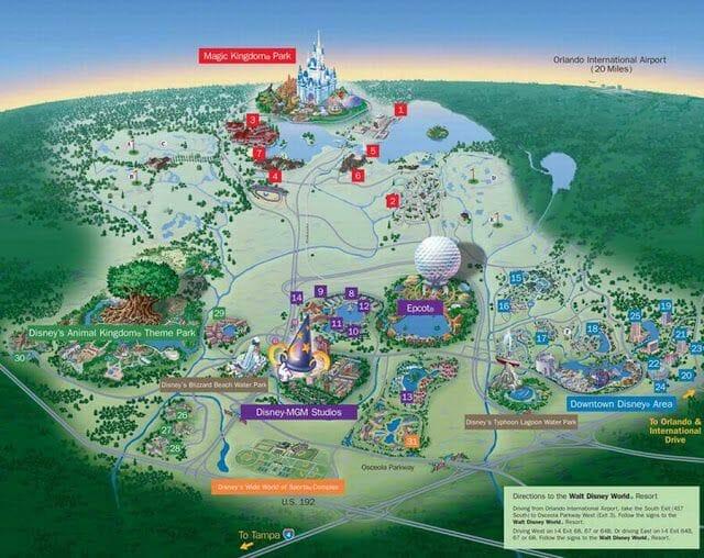 animal kingdom orlando mapa