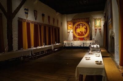 salon banquete Torre homenaje castillo de Dover