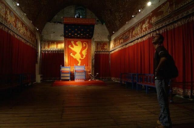 salon trono Torre homenaje castillo de Dover