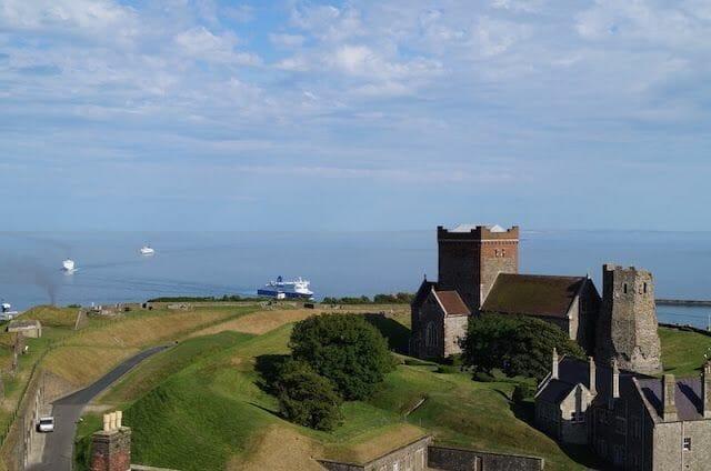 vistas Torre homenaje castillo de Dover