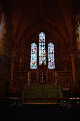 Capilla normanda de St. Mary vidrieras