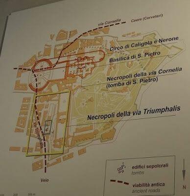 plano Necropolis via triumphalis