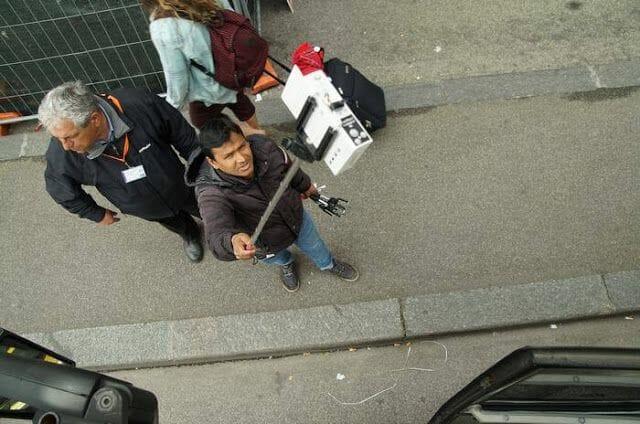 venta ambulante en el Bus turístico Roma