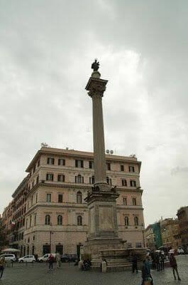 Santa María la Maggiore columna maria