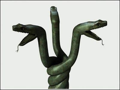 La curiosa vicisitud de la columna Serpentina de Estambul