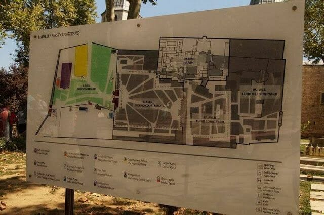 plano palacio de topkapi Estambul
