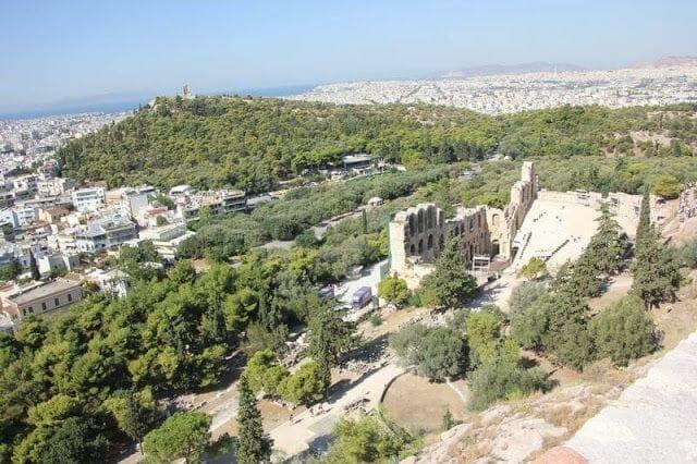 vistas desde la acropolis de Atenas