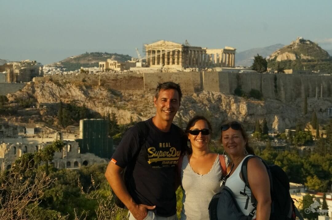 vista de acropolis desde COLINA FILOPAPPOS