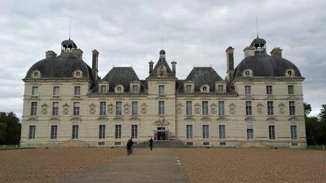Fachada del castillo de Cheverny, el castillo de Moulinsart de Tintín