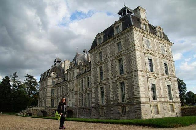 jardines del castillo de Cheverny