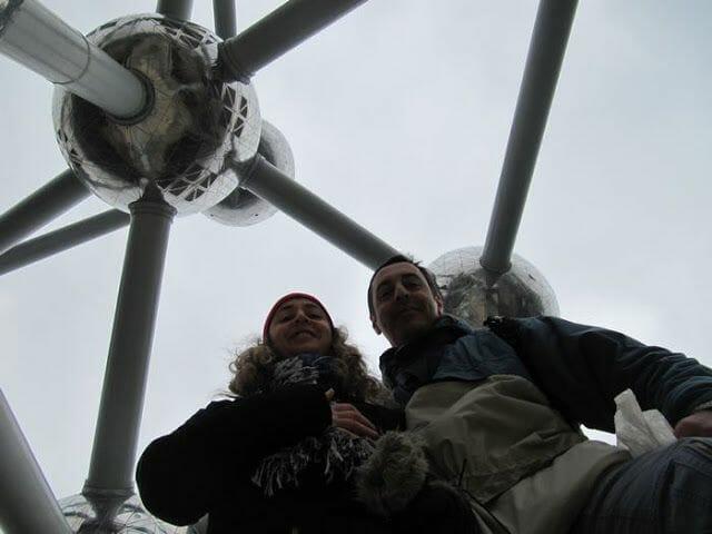el atomium de bruselas selfie