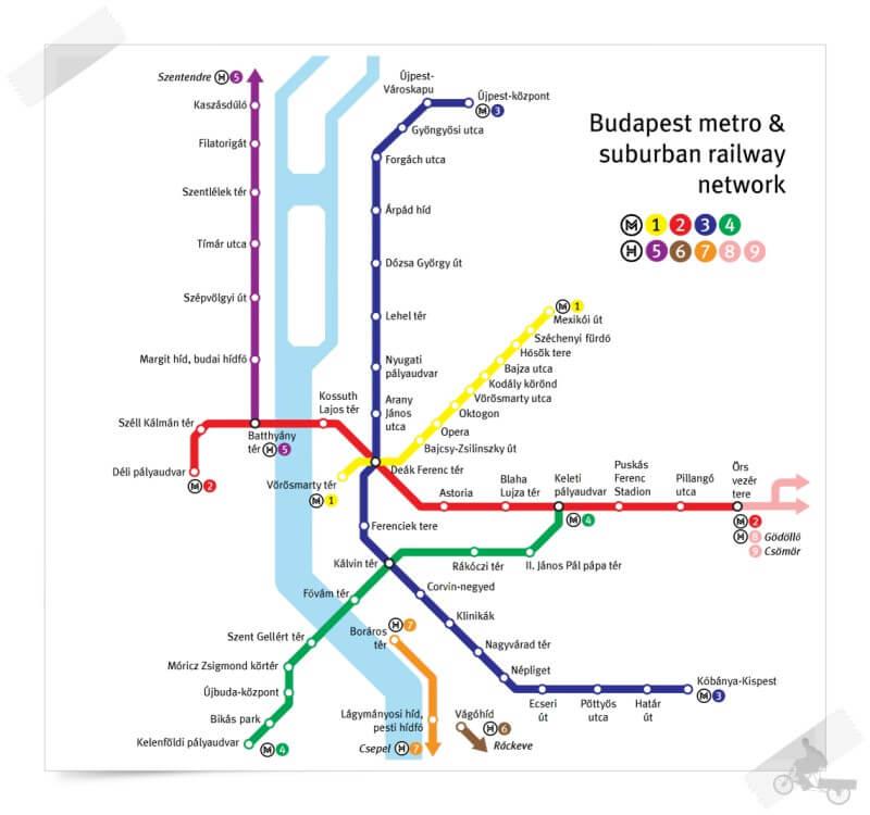 plano del metro de Budapest