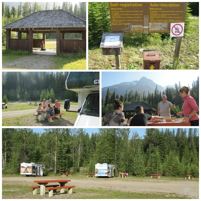 Camping Kicking Horse campground