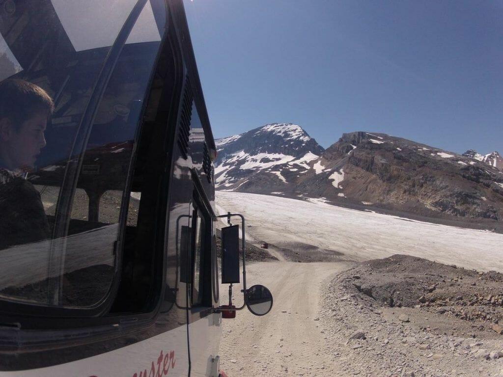 camino Glaciar Athabasca