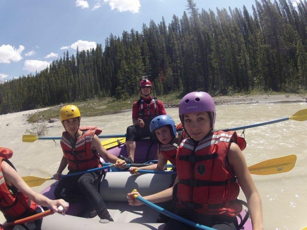 rafting en Jasper Canadá