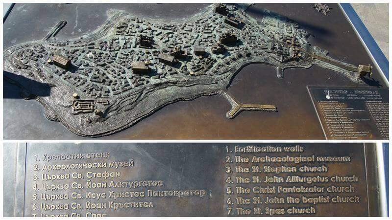 maqueta de la ciudad vieja de Nesebar