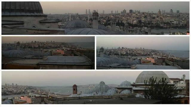 vistas de estambul desde suleymaniye
