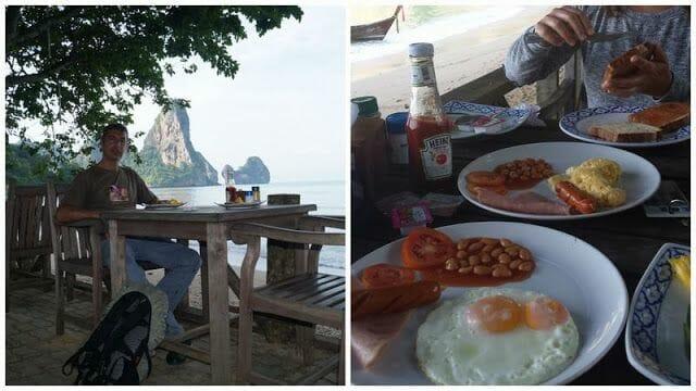 desayuno en Tonsai beach