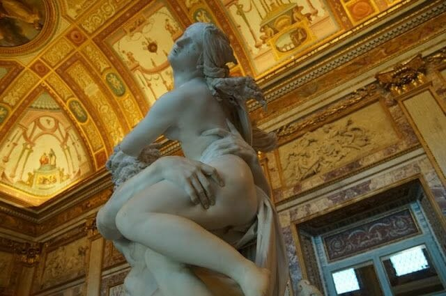 El rapto de Proserpina de Bernini(Galleria Borghese)